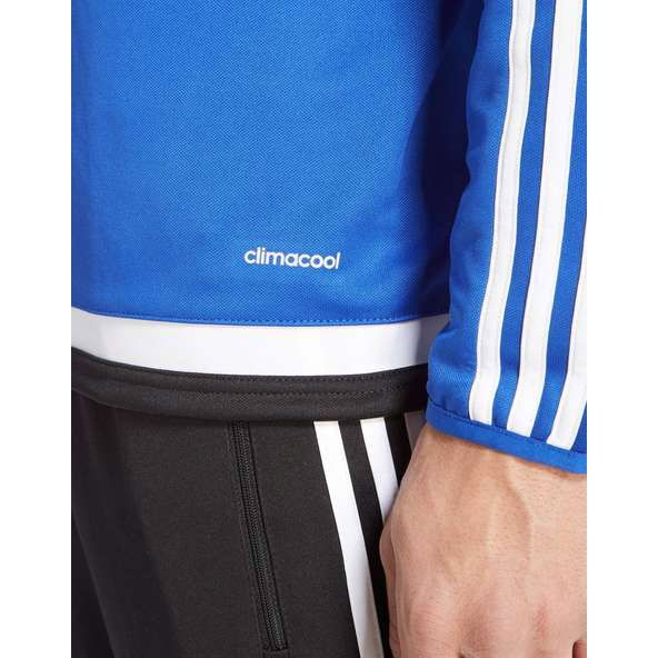 Whether you're in the thick of the action or gearing up on the sidelines, this men's Tiro 15 Training Top from adidas cools you down so you can concentrate on pushing your performance to the next level. Built with Climacool technology, its sweat-wicking properties keep you dry and focused, while the elasticated sleeve bindings and functional knit fabric deliver comfortable wear every minute of the game. Finished with the iconic 3-Stripes down the sleeves.