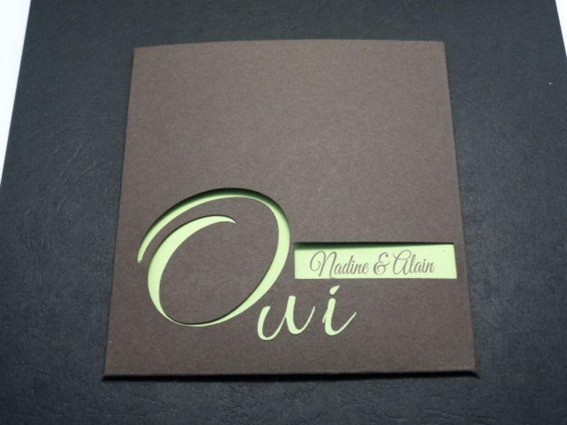 Faire-part de mariage- thème enveloppe à fenêtre - carte postale et autre cartes - Scrap83 ...