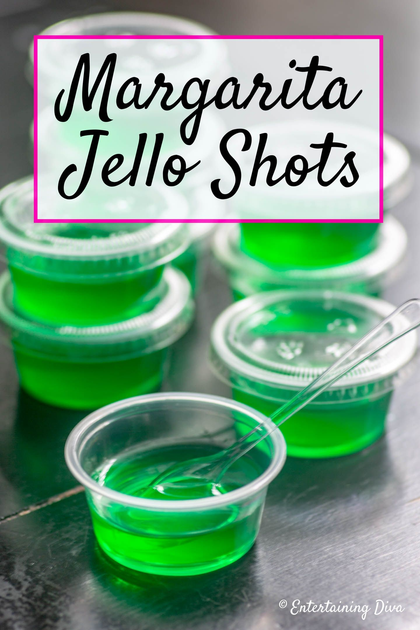 Margarita Jello Shots Recipe (Made With Tequila) - Entertaining Diva Recipes @ From House To Home