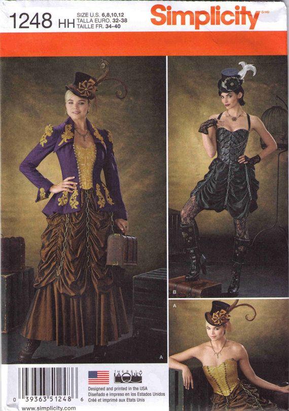 Steampunk costume pattern, Adult Halloween costume pattern ...