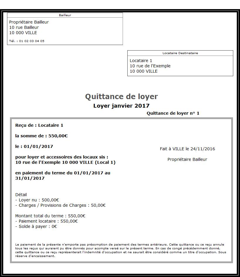 Modele Quittance De Loyer A Remplir Modele Facture Exemple Facture Modele De Contrat