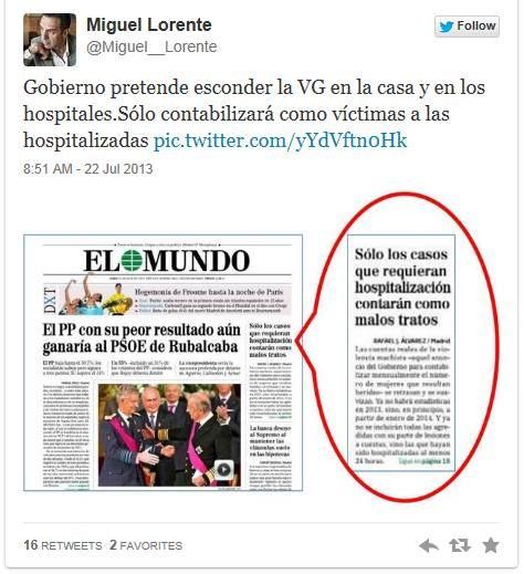 el ex delegado del gobierno para VG Miguel Lorente, demuestra de nuevo sus incapacidades y vuelve a incitar a la población injustamente, por lo que Sanidad se ve obligada a hacer entender la realid...