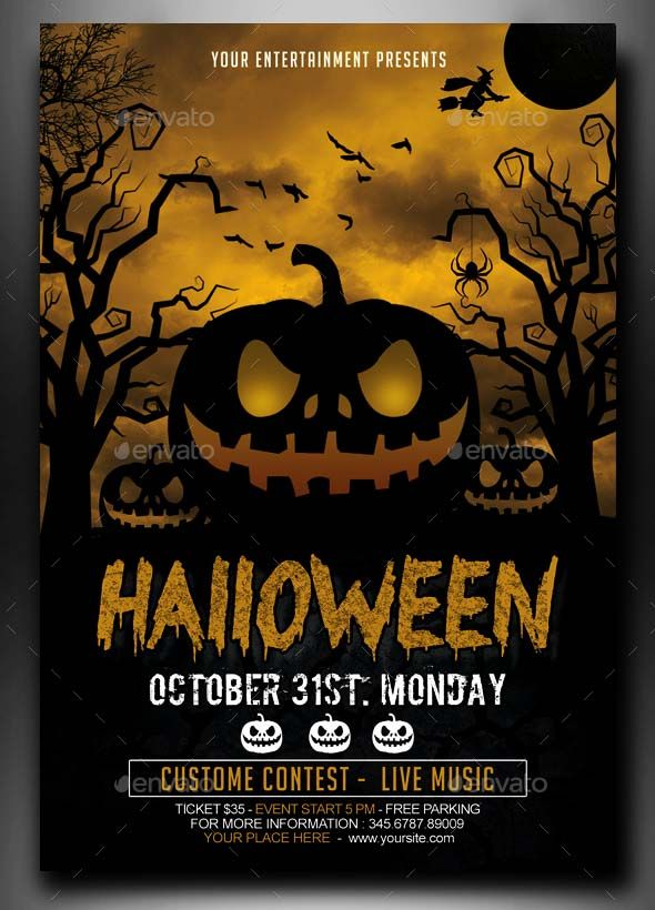 Search 100 Free Halloween Psd Party Flyer Templates Flyer