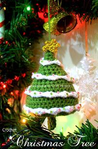 2000 Free Amigurumi Patterns: Christmas Tree Amigurumi