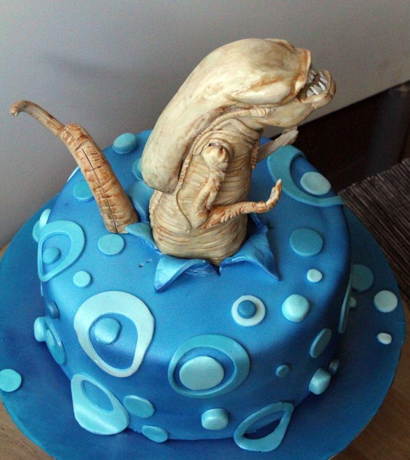 Awe Inspiring Alien Chestburster Cake Alien Cake Cake Horror Cake Funny Birthday Cards Online Elaedamsfinfo