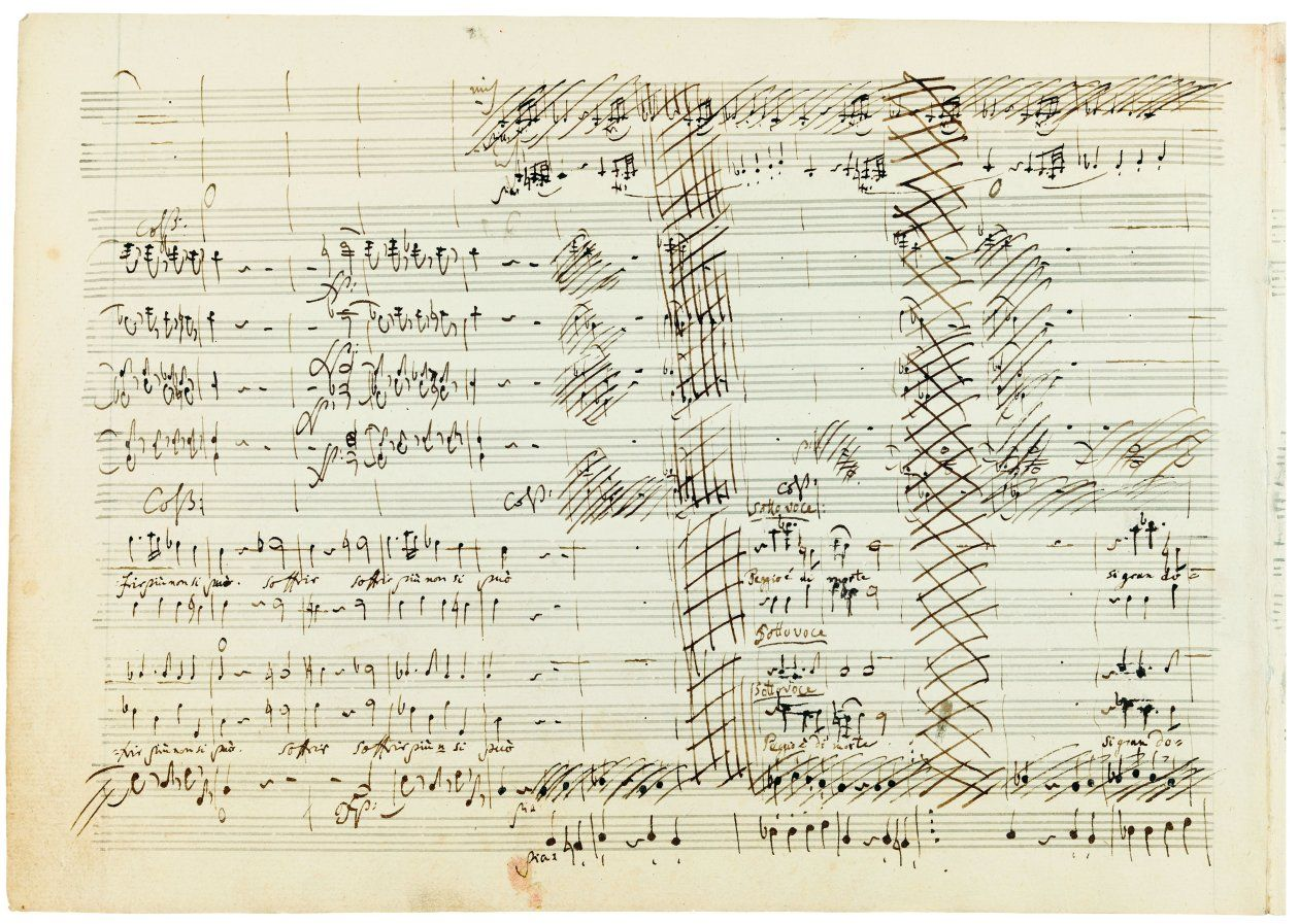 One Of Mozart S Original Scores With Cancellations With Images