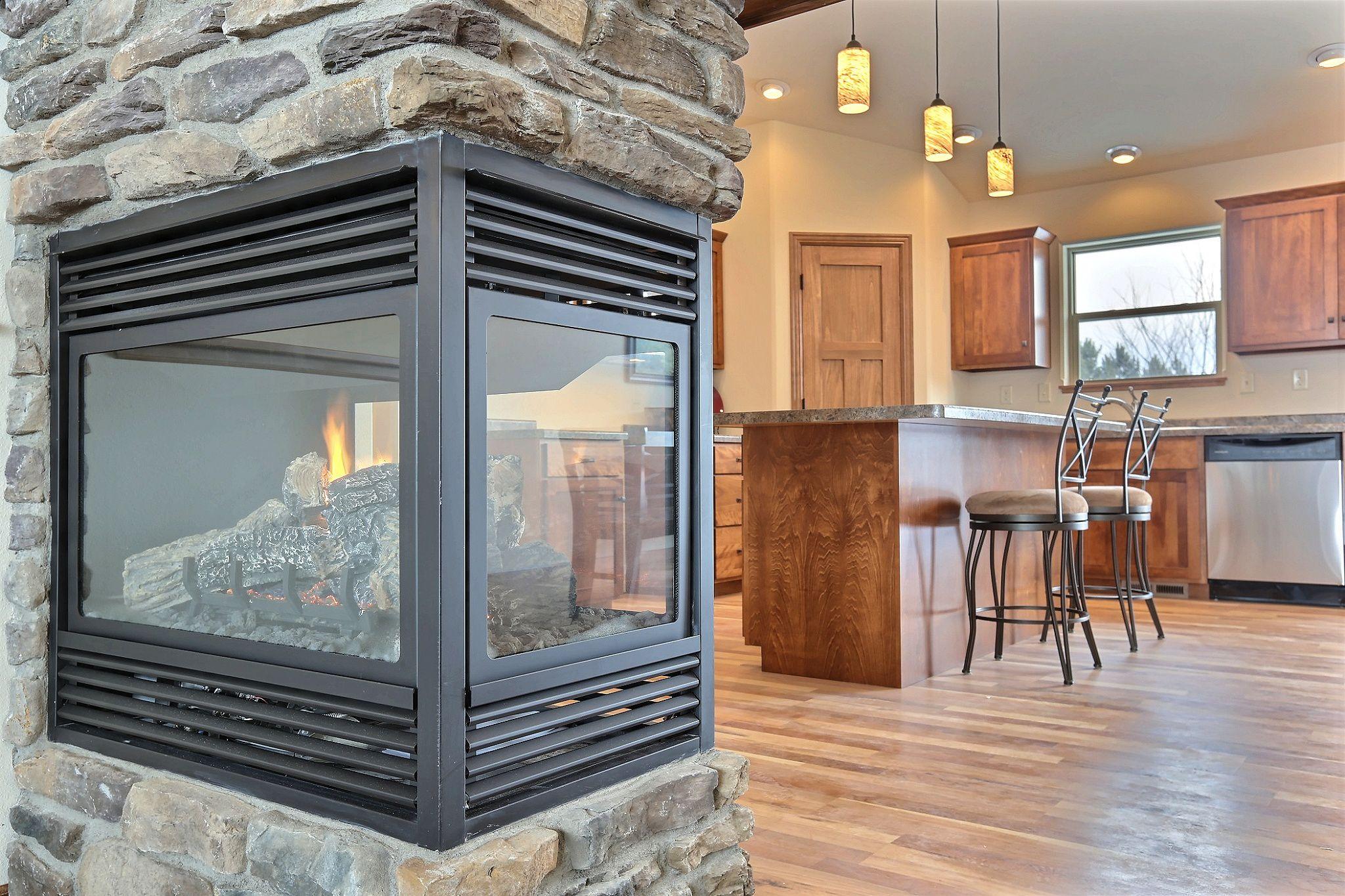 3 Sided Kingsman Fireplace Stone Ledgestone Pennsylvania