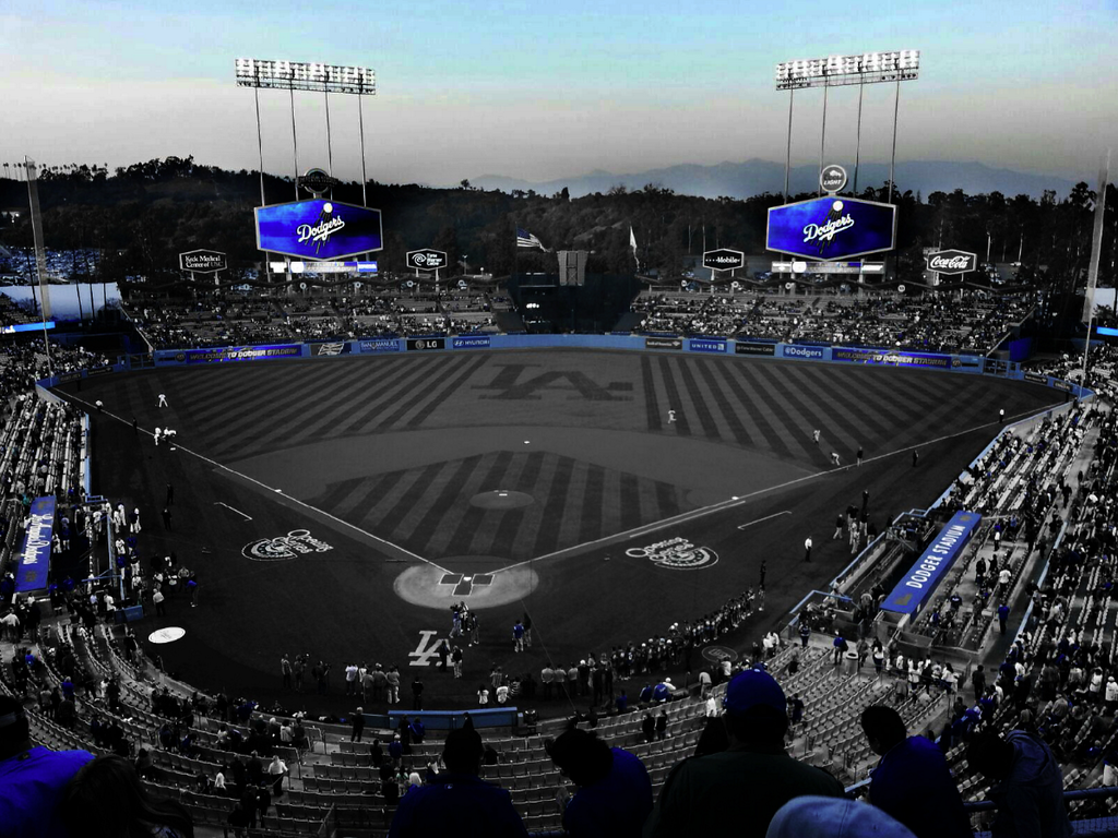 Los Angeles Dodgers On Dodgers Dodger Blue Dodger Stadium