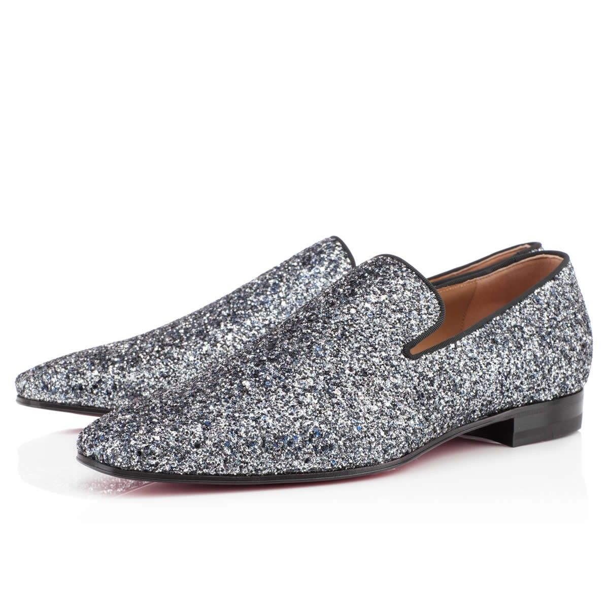 9e01c047194 Living a Beautiful Life ~ Christian Louboutin Mens Dandy Flat Blue Khol  Glitter Loafers