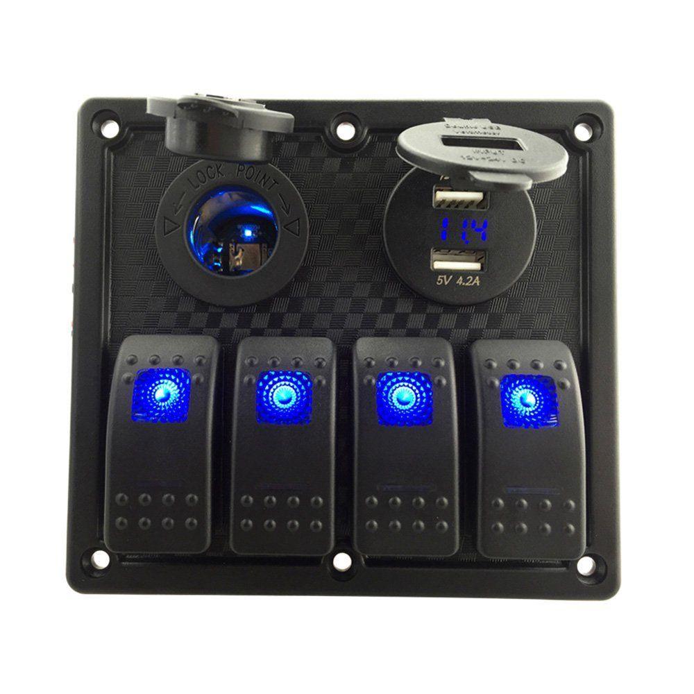 Lampa 38967 Presa di Corrente 12//24V con Doppia Presa USB