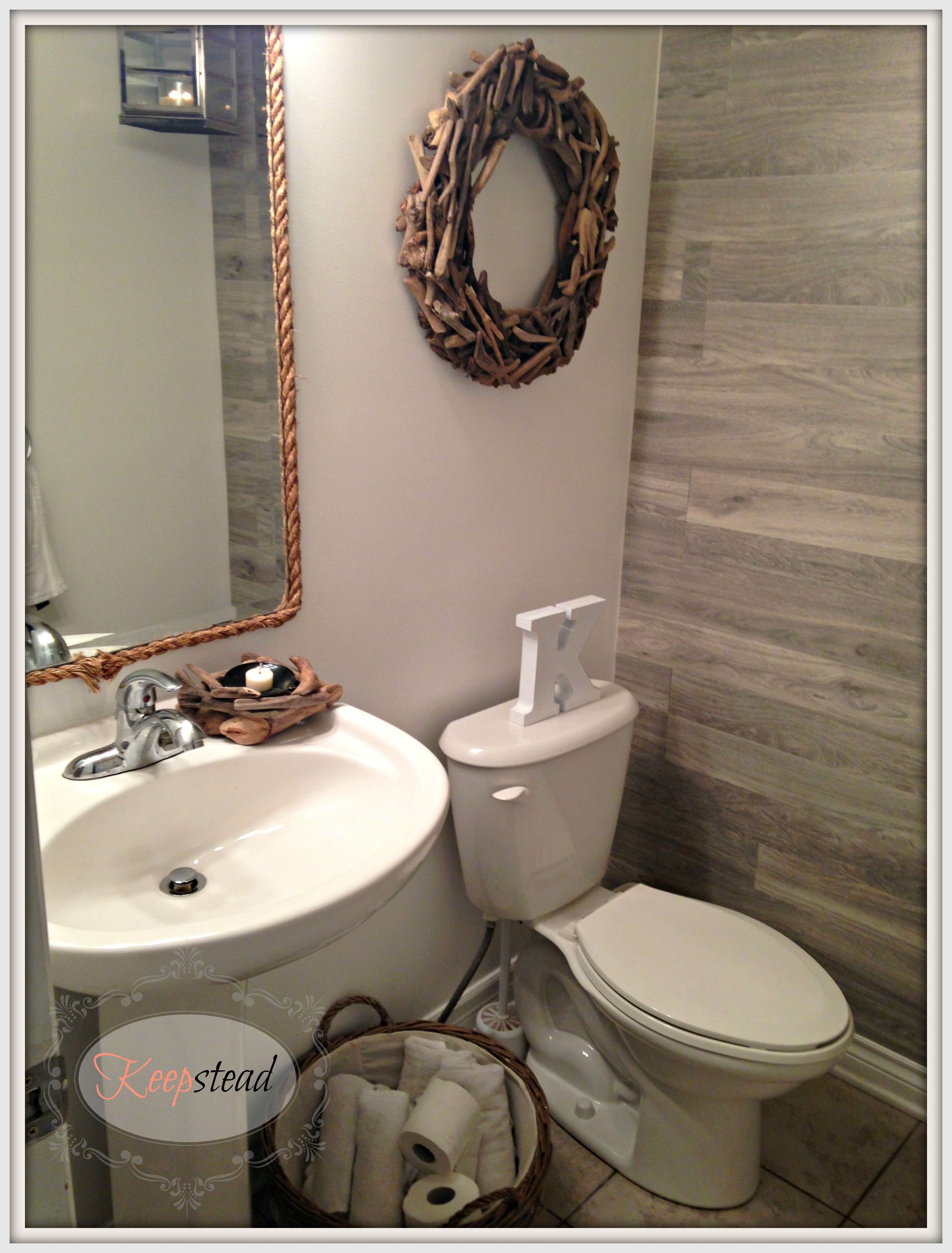Love the laminate on the wall Half Bath Pinterest