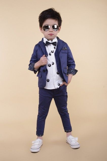 f6efa8dd795a4 ... dresses for birthday parties, weddings and special occasion. Handsome  Navy Blue Boys Formal Clothing Set, Kids Formal Wear, Boys' Suit Jackets