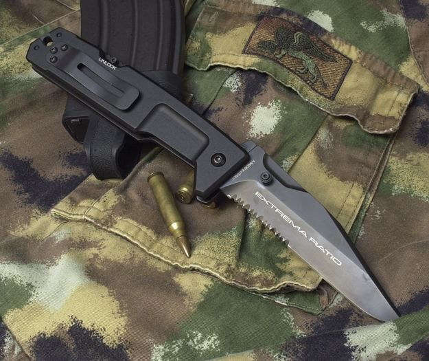 Extrema Ratio knives, multipurpose penknife, MPC Testudo. Serrated blade