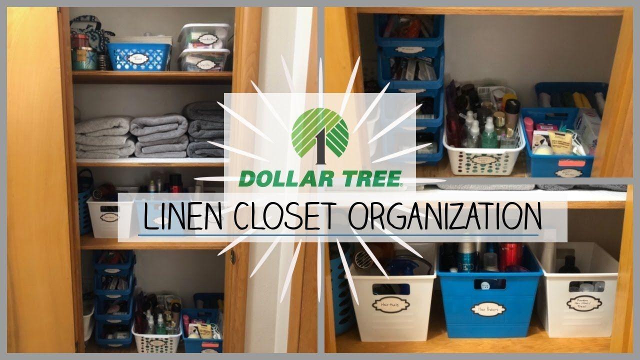 Closet Organization Dollar Tree Bins Part 2 Closet Organization Linen Closet Organization Closet Organization Diy
