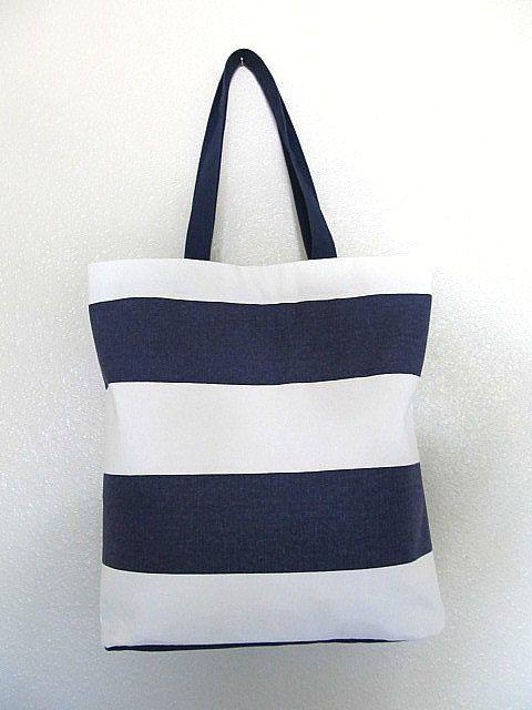 525f14f4166  50  etsy  handmade  totebag  tote  stripes  blue  beach  nautical  grocery   beach  market  shopping  shoulder