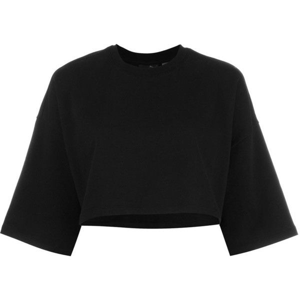 Puma cropped sweatshirt (920.165 IDR) ❤ liked on Polyvore featuring tops, hoodies, sweatshirts, black, crop top, cut-out crop tops, puma sweatshirt and cropped sweatshirt