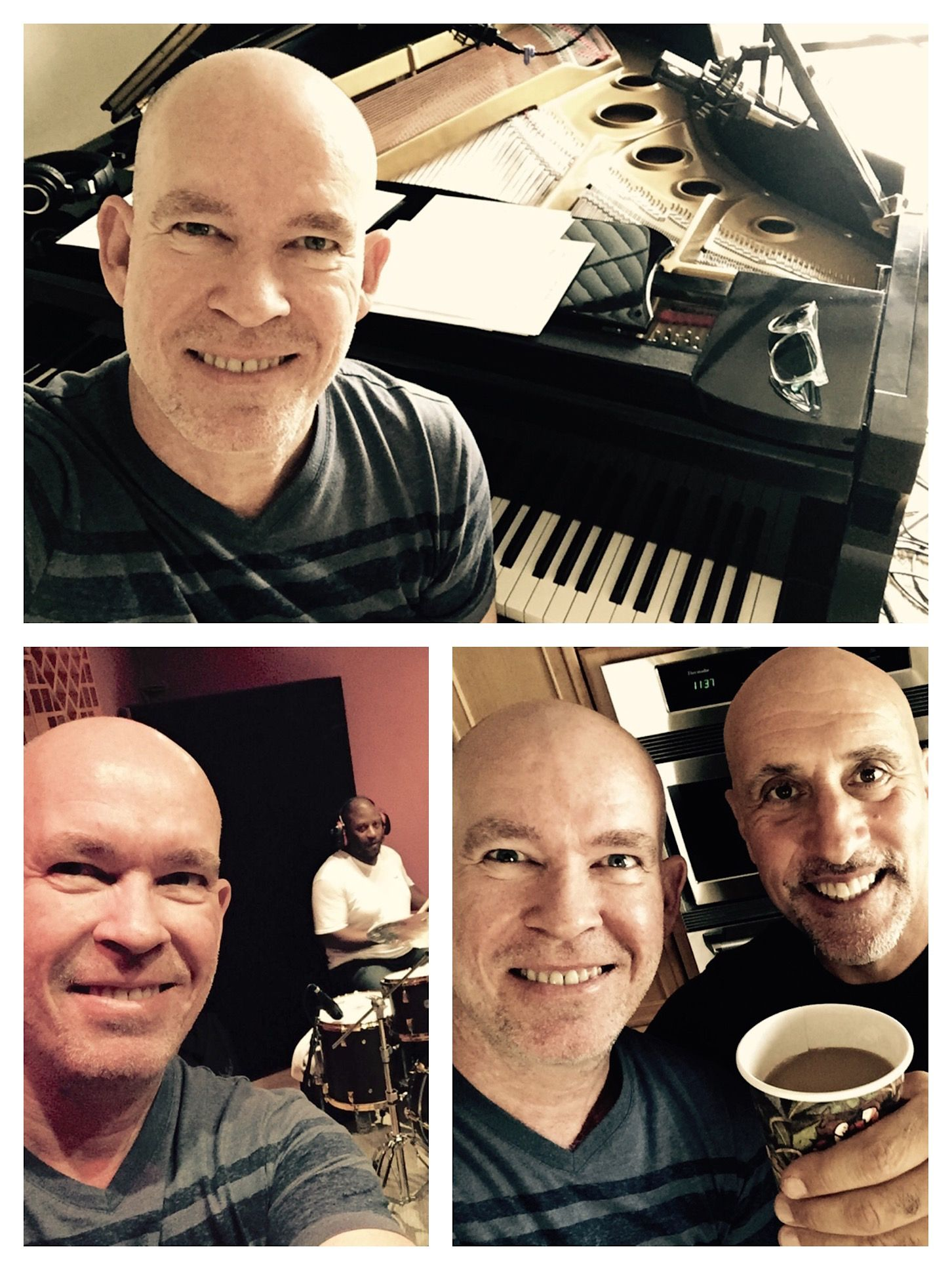 In the studio recording rhythm section for the last 2 album tunes.