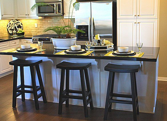 Setting Up A Kitchen Island With Seating Stools For Kitchen