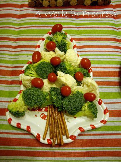 Broccoli and tomato Christmas tree Preschool Pinterest