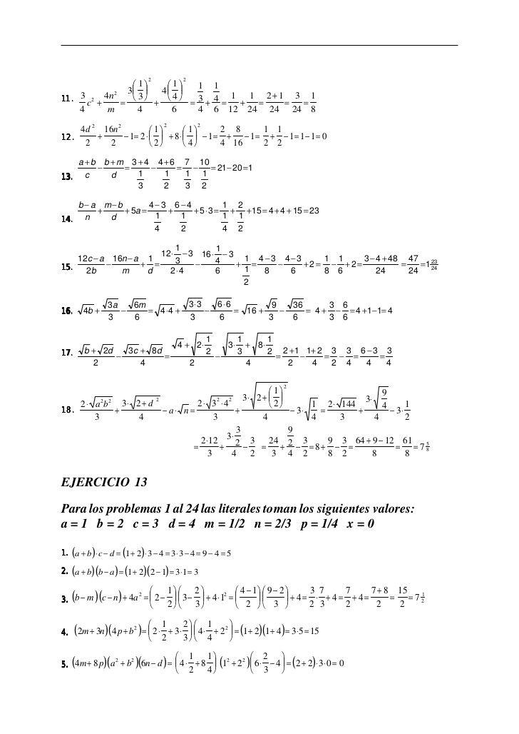 ejercicios resueltos algebra de baldor descargar