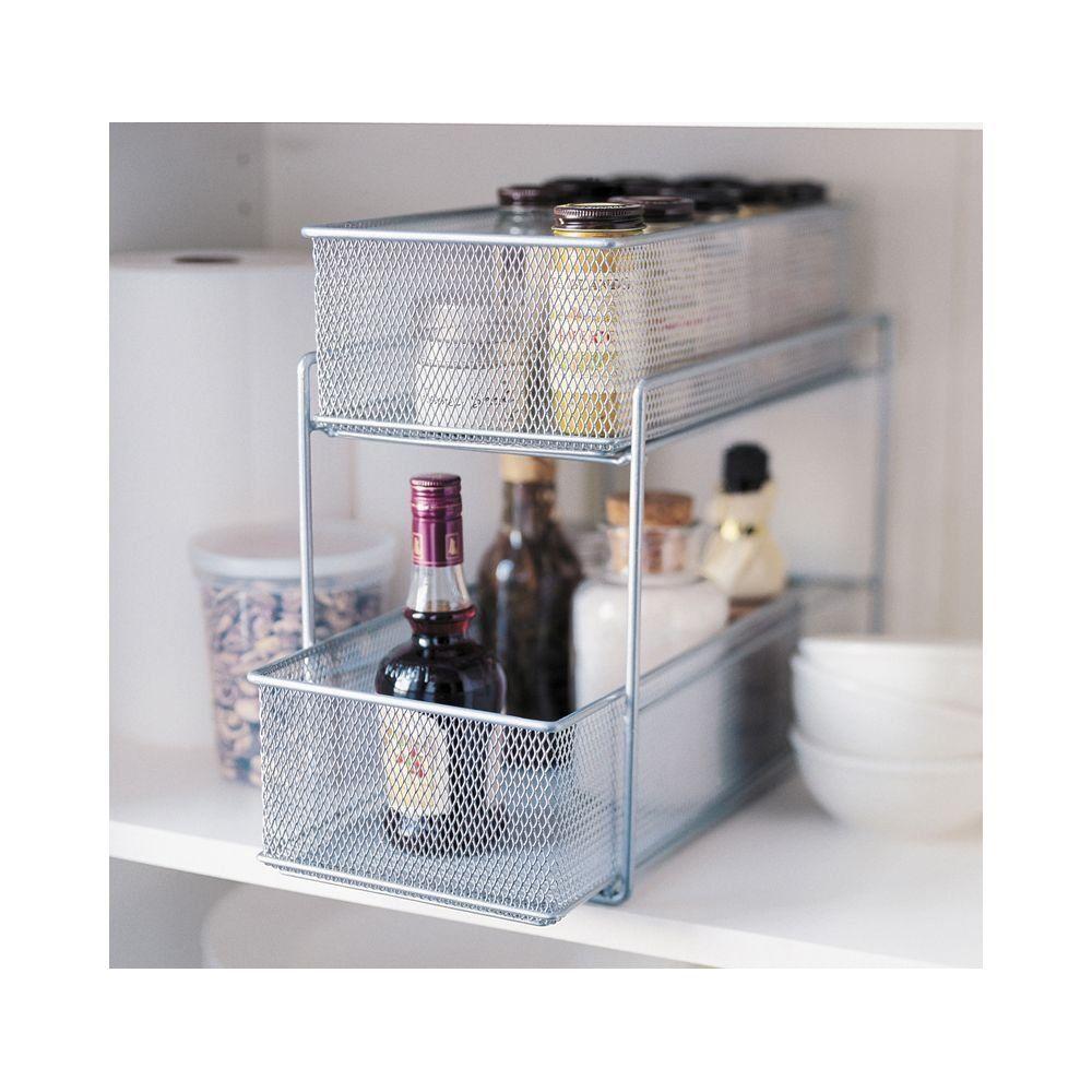Silver Wire Mesh Kitchen Cupboard Baskets Amazon Co Uk Kitchen