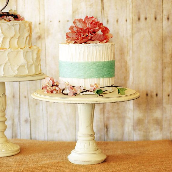 One Rustic Pedestal Cake Stand | Cake, Wedding and Wedding cake