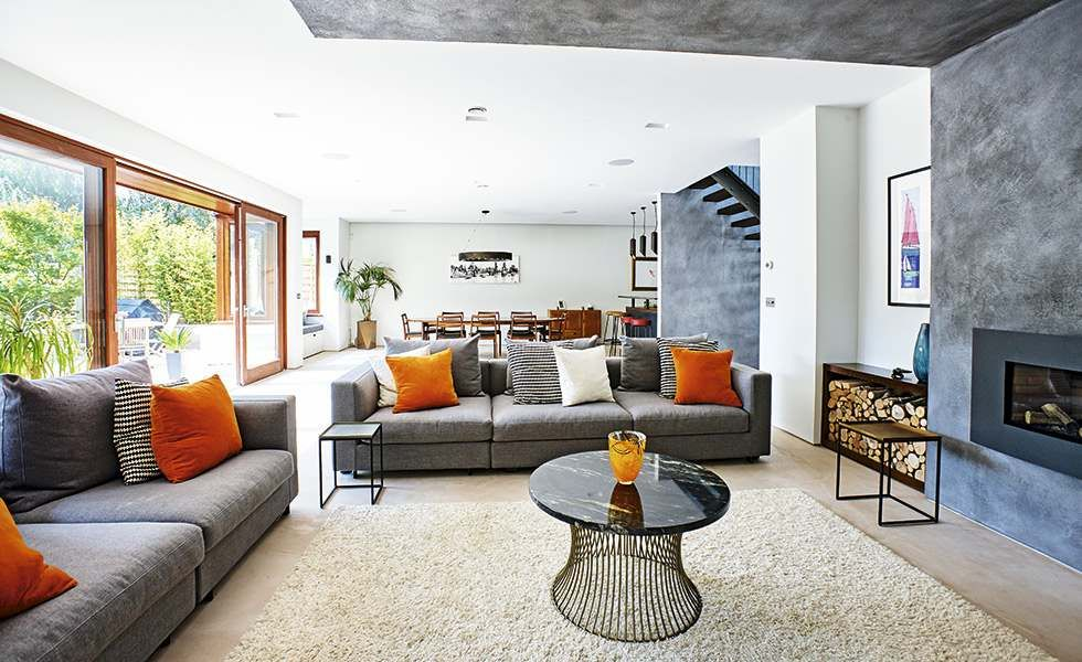 The Conversion Of Sarah Rossiter And Her Husband Ed's Has Turned Glamorous Bungalow Living Room Design Inspiration