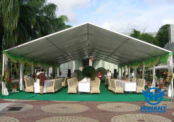 Aluminium alloy party tent for wedding or meeting, architectural aluminium profile for exhibition tent.