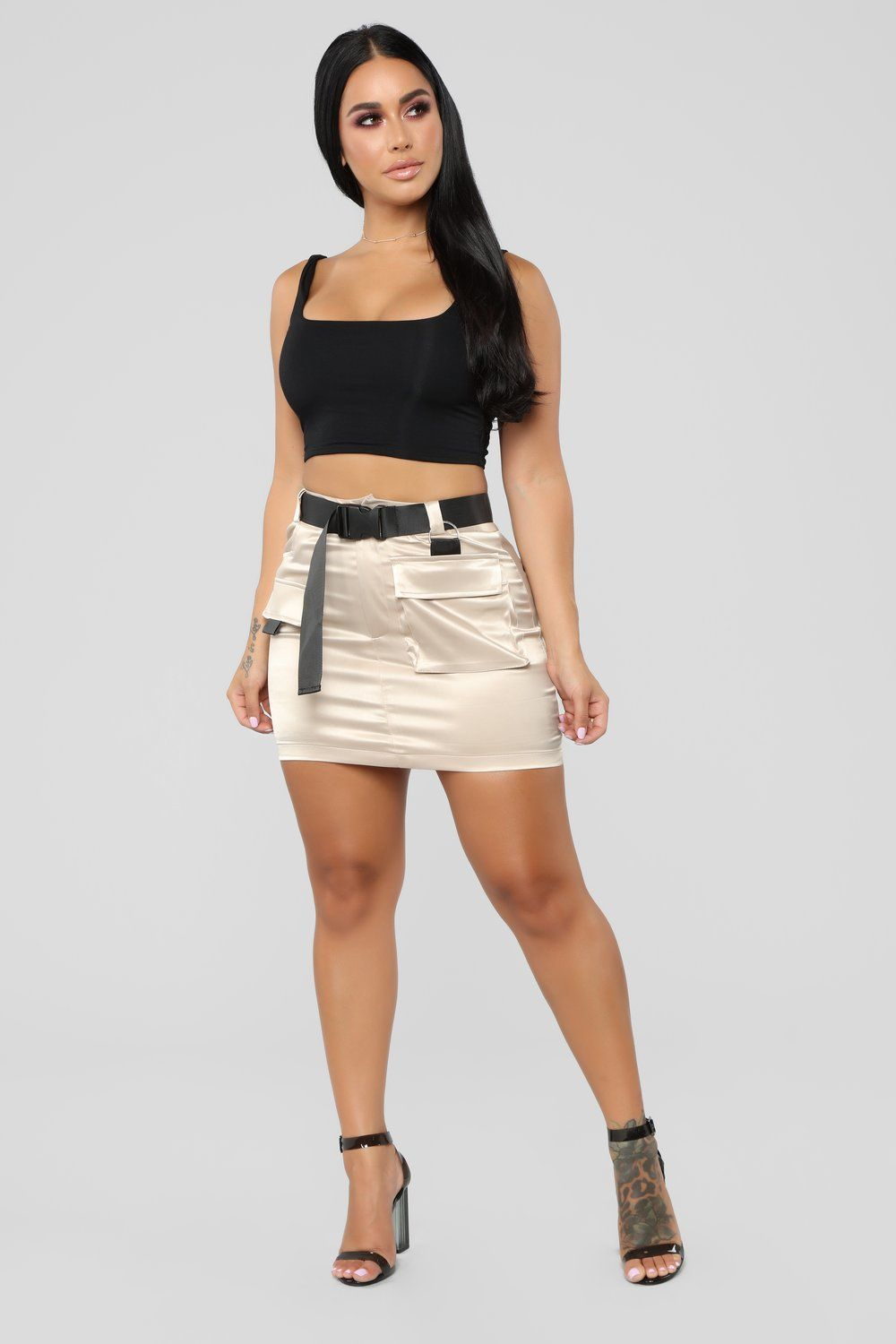 1378ccd424 Blakely Cargo Skirt - Khaki Grown Women, Sexy Skirt, Beautiful Curves, Silk  Satin