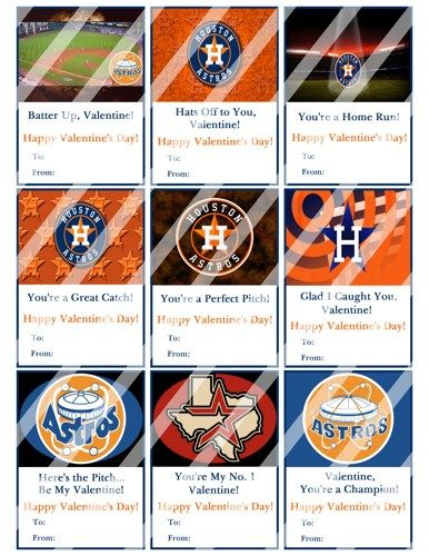picture relating to Houston Astros Printable Schedule referred to as Houston Astros Printable Electronic Custom made Valentines Working day