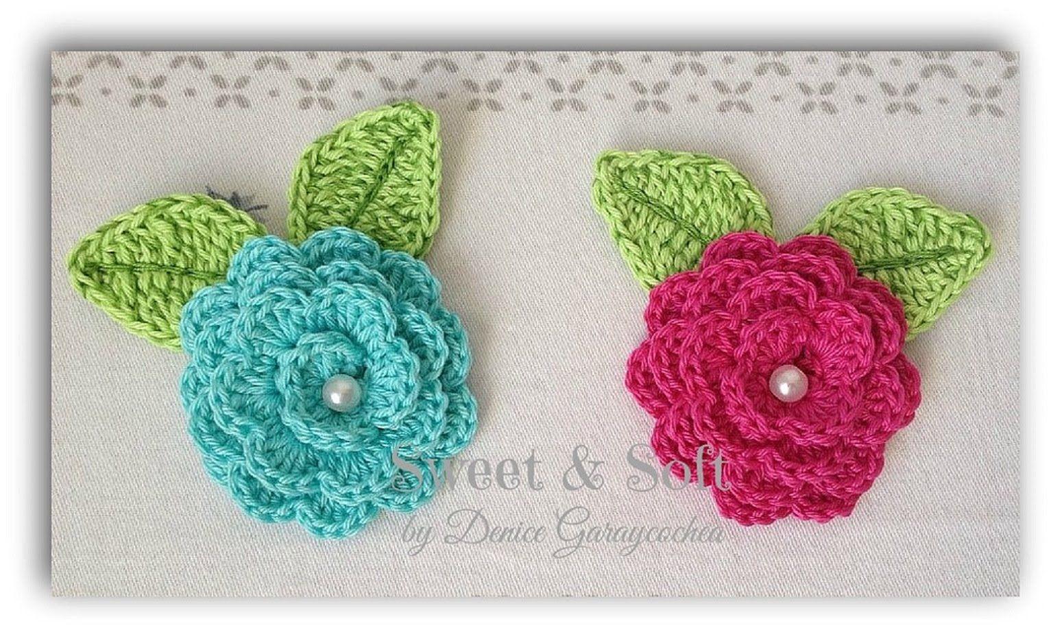 Rosas a crochet tejido flores pinterest croch y - Hacer flores de ganchillo ...