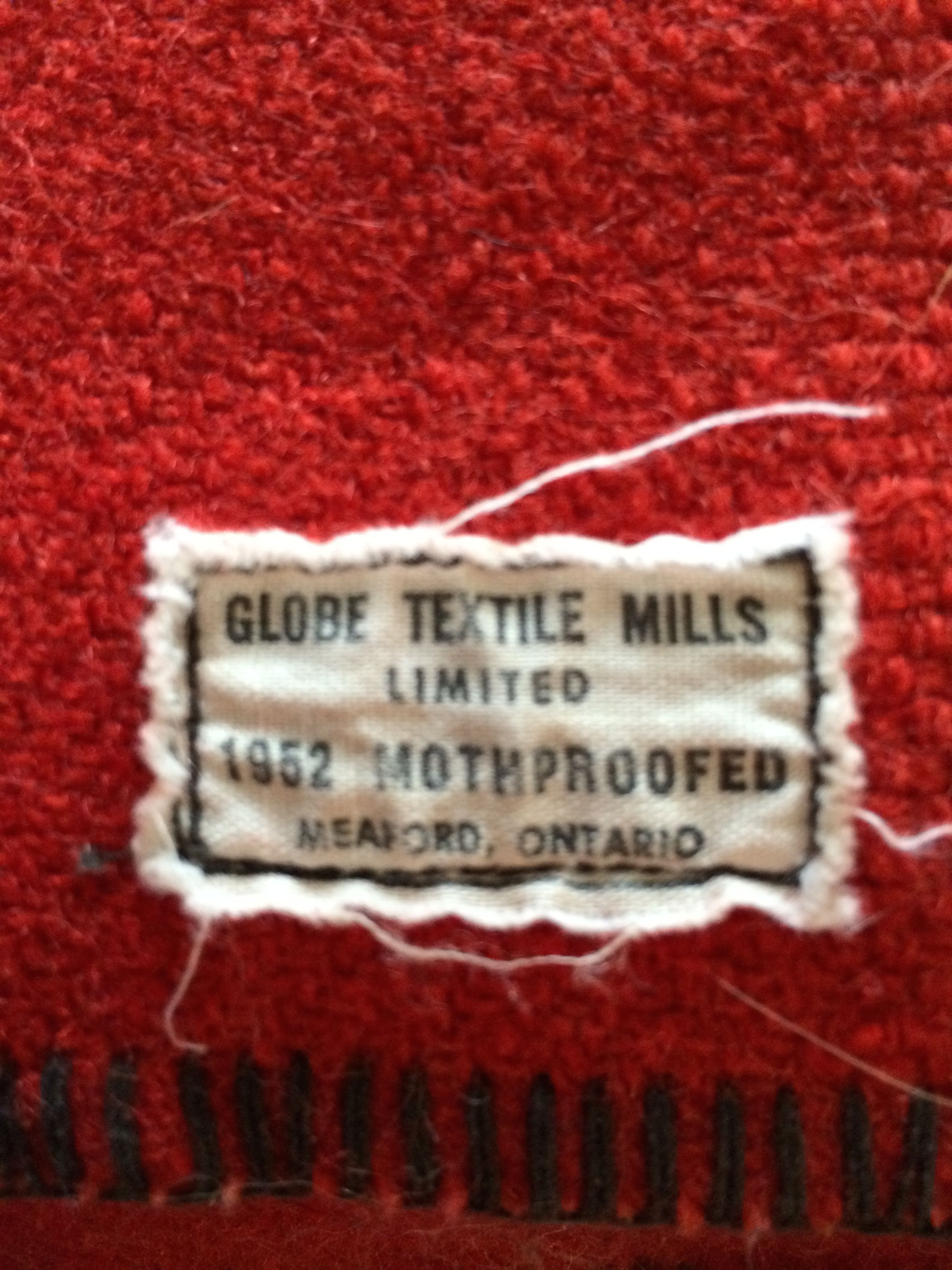 Vintage label on a canadian navy ship blanket by globe textile blanket bankloansurffo Image collections