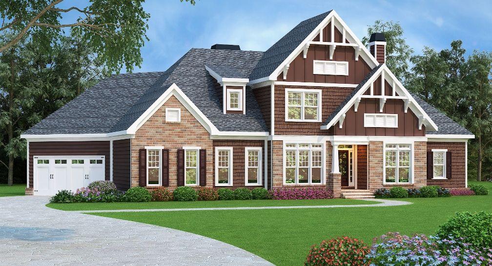Craftsman Plan 2828 square feet, 4 bedrooms, 3 bathrooms