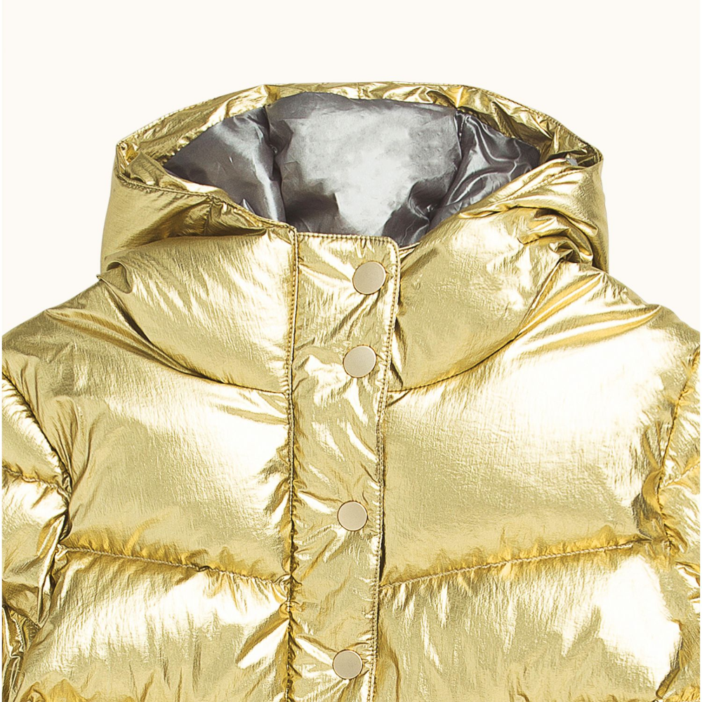 Moon Puffer Jacket Gold French Chic Fashion Puffer Jackets Childrens Clothes [ 1000 x 1000 Pixel ]