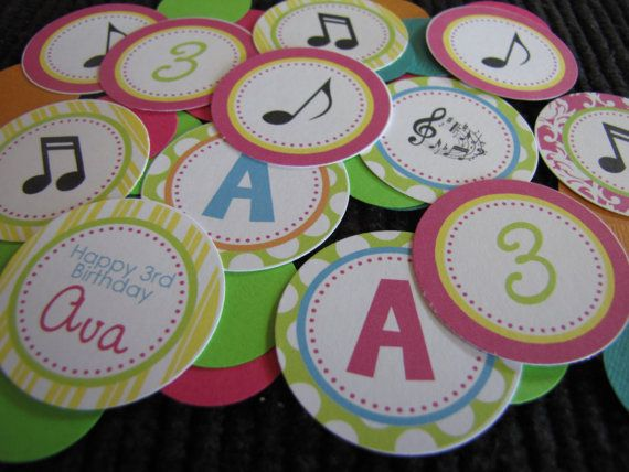 Musical Theme Confetti Customized  You choose the by designgirl16, $4.50