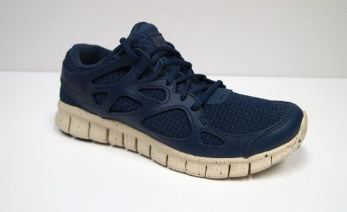 9fc3ad5365 Men s Nike Free Run+ 2 Woven Leather NRG Running Shoes Squadron Blue Sqdrn  Blue