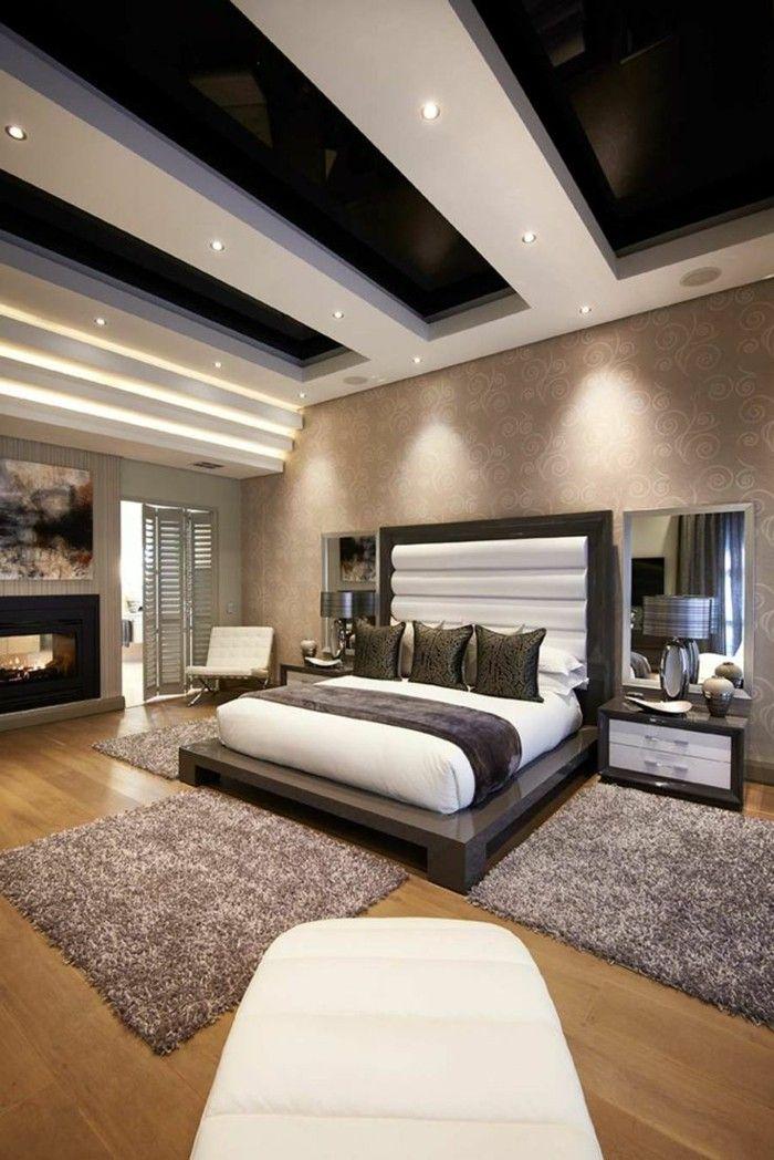 einrichtungsideen schöne zimmerdecke im schlafzimmer gestalten - einrichtungsideen perfekte schlafzimmer design