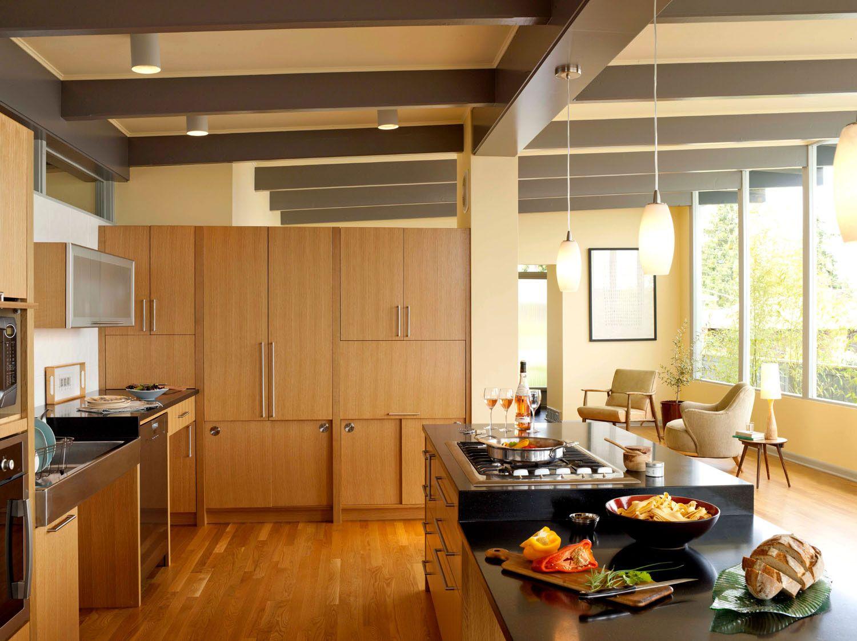 Pin By Rom Architecture On Portfolio Magnolia Mid Century Modern Kitchen Simple Kitchen Remodel Mid Century Modern Kitchen Design