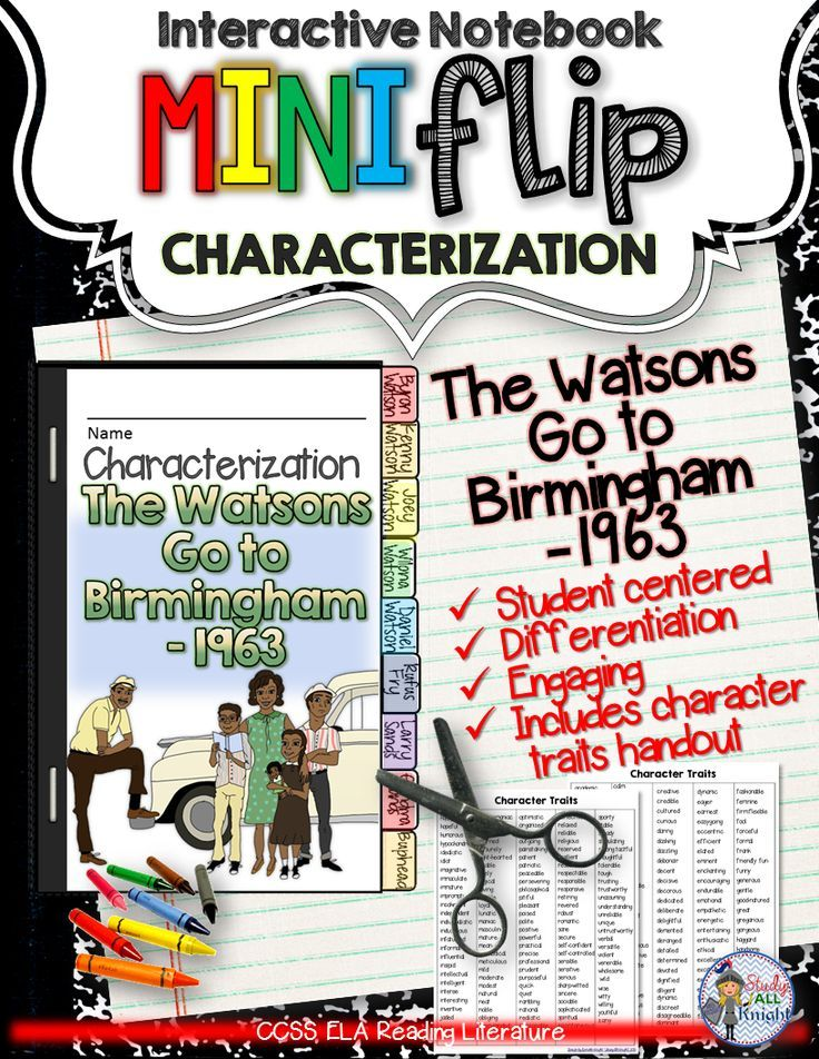 The Watsons Go To Birmingham 1963 Interactive Characterization