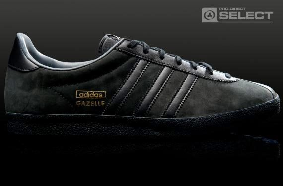 adidas black leather gazelle og