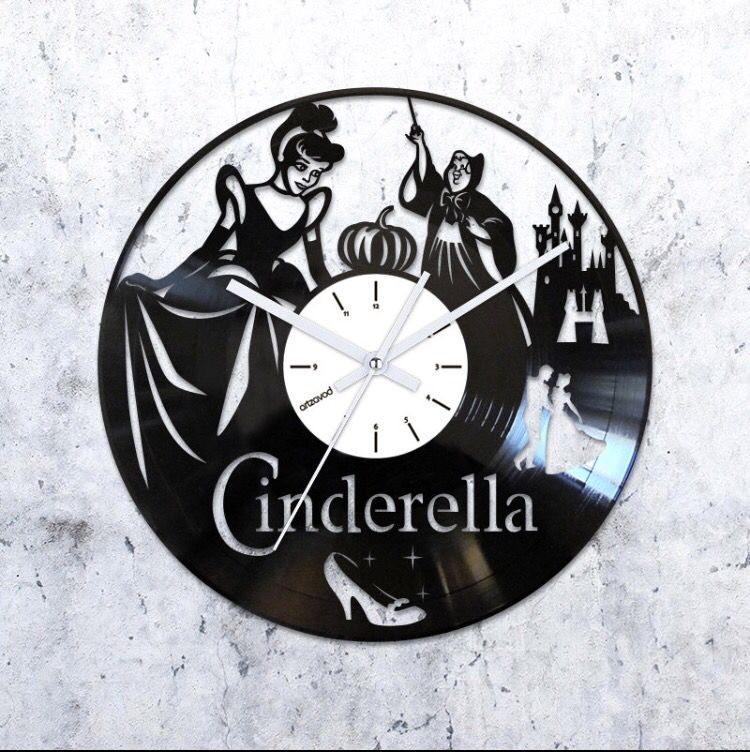 Cinderella Vinyl Record Clock Vinyl Clocks Vinyl