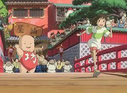 Chihiro logra escapar de la casa de baños (la transformación espiritual ha tenido éxito).