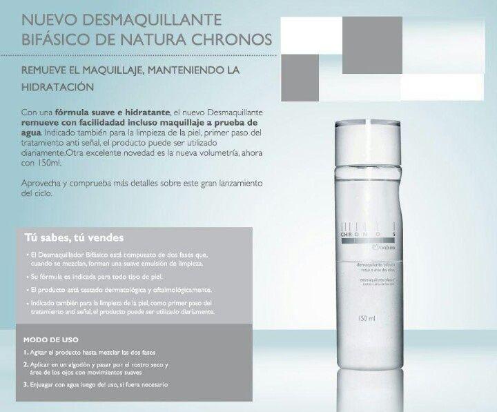 Demaquillante Desmaquillante Bifasico Hidratante Natura Chronos