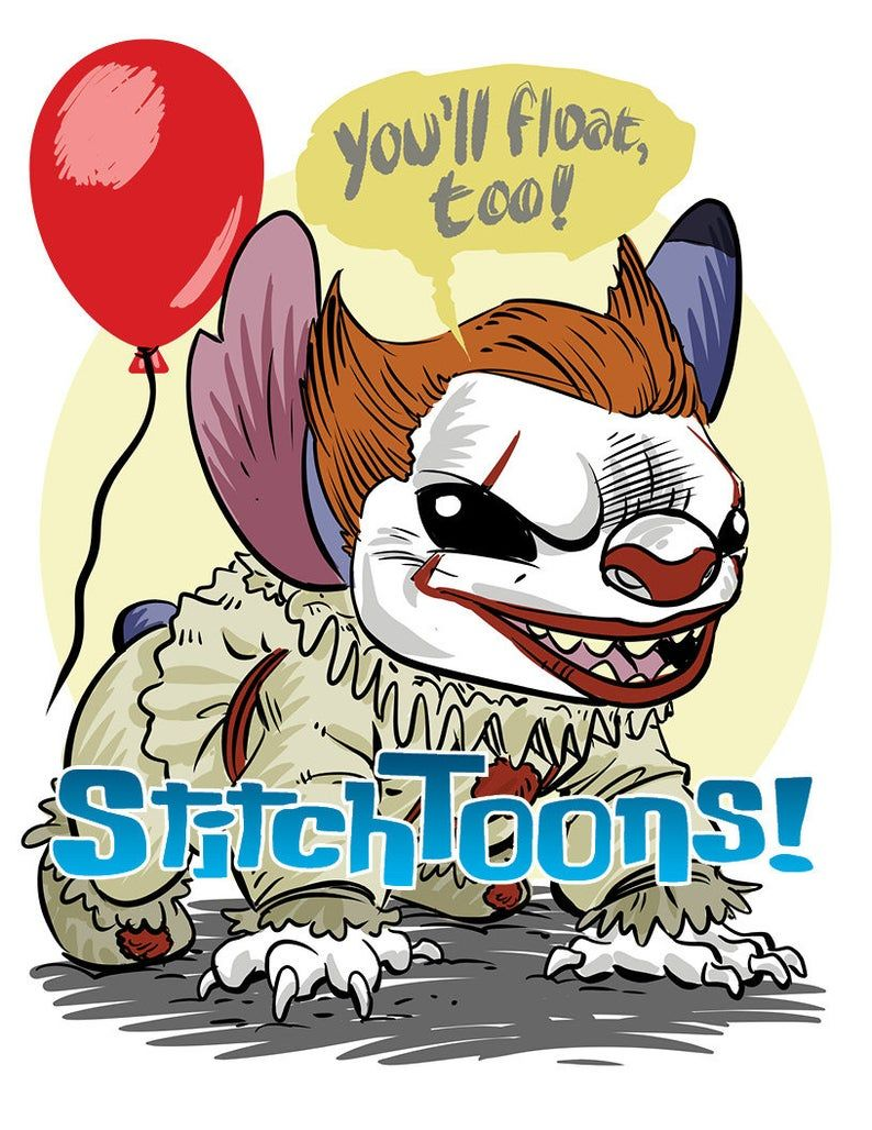 Pennywise Stitch Parody Fan Art