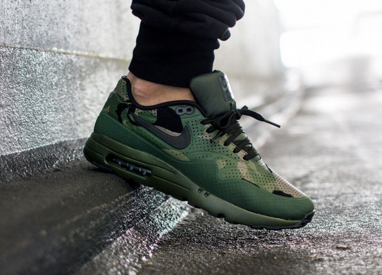 Nike Air max 1 Ultra Moire Carbon Green Print - 806851-300