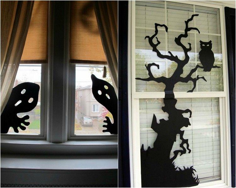 bricolage facile d co fen tre automne et halloween 46 id es kids halloween halloween diy. Black Bedroom Furniture Sets. Home Design Ideas