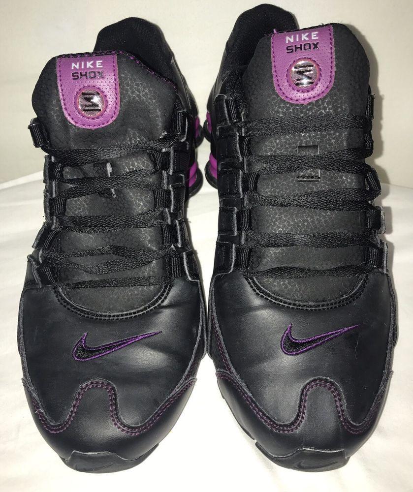 Women S Nike Tennis Shoes Ankle Hi Tops Black Purple 9 5 Lace Up