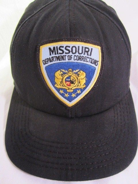 1ac2db1a7a5 MISSOURI Dept Department of Corrections Black Snapback Hat MADE IN ...