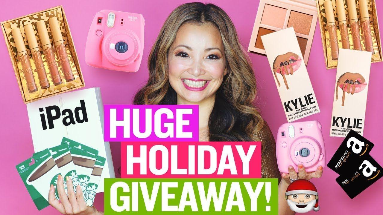 Huge holiday giveaway 2017 ipad kylie cosmetics instax
