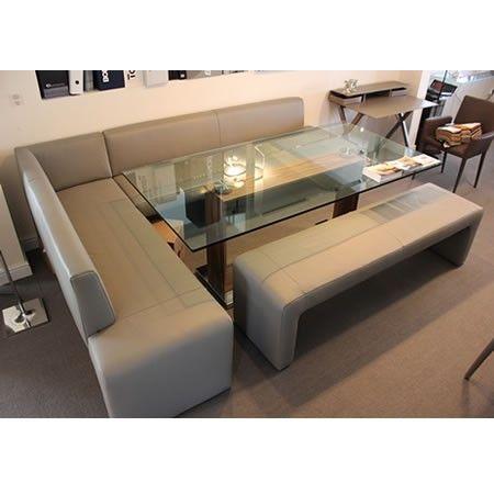 Koinor Bronx Dinner Sofa Set Titan Grey Leather Furniture Design